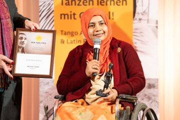 Ashrafun Nahar winner in the category of Rights
