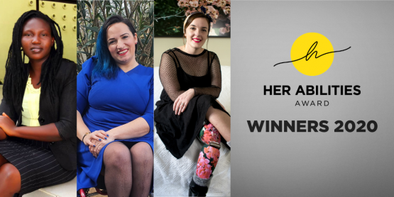 The three winners of the Her Abilities Award 2020 (c) Light for the World